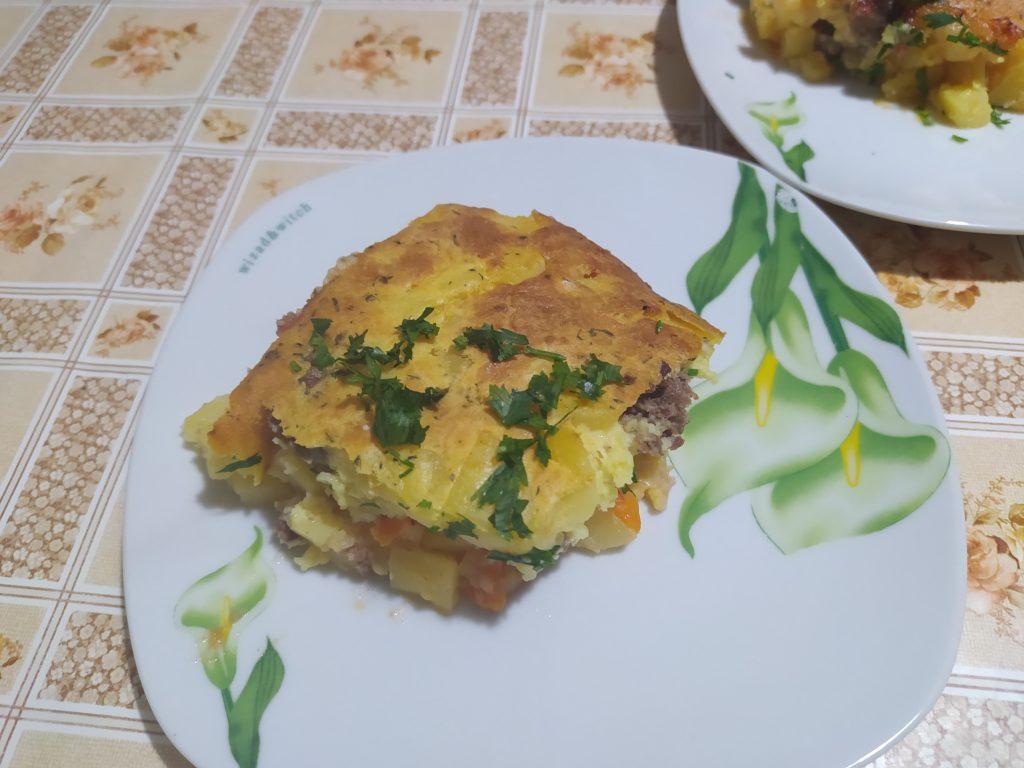 Мусака от домашно отгледани зеленчуци и месо